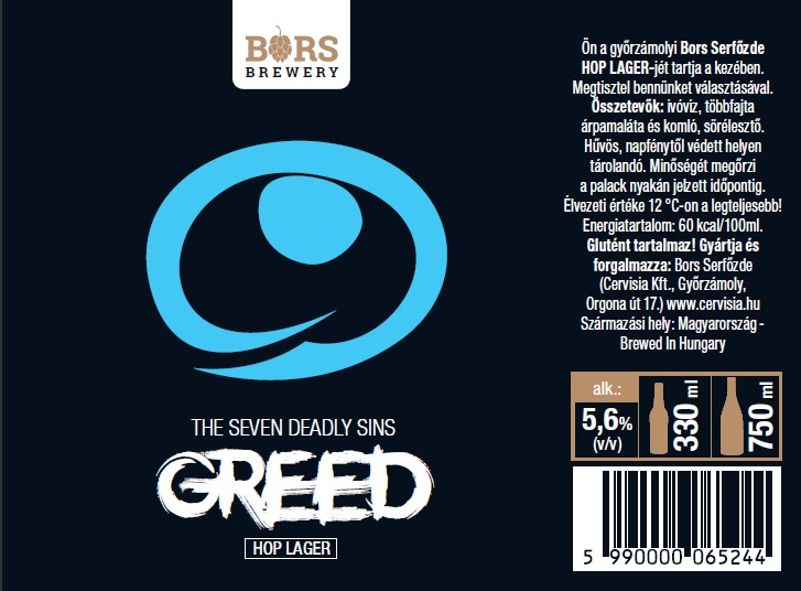 Greed - Seven Sin's (HOPLAGER)