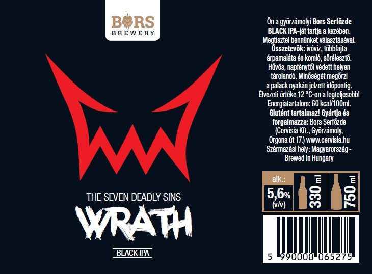 Wrath - Seven Sin's (BLACK IPA)